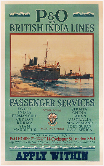 P&O and British India Lines Passenger Services