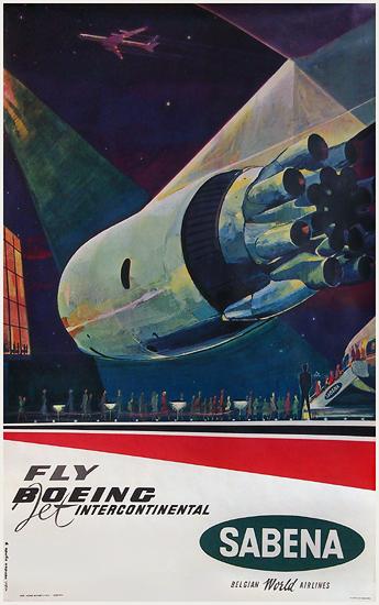 Sabena Fly Boeing Jet Intercontinental