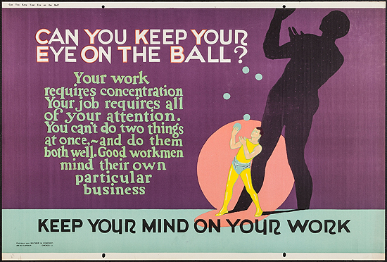 Mather Work  Incentive Poster: Can You Keep Your Eye On the Ball