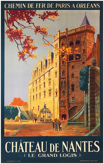 chisholm poster chemin de fer de paris a orleans chateau de nantes le grand logis. Black Bedroom Furniture Sets. Home Design Ideas