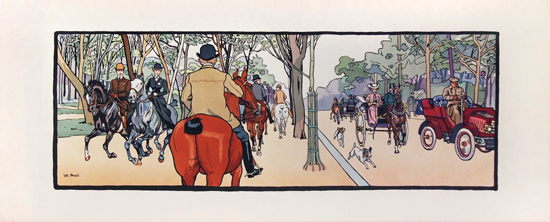 Riding in the Park Horse Panel