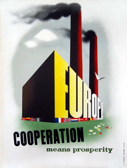 ERP/Marshall Plan - Europe Cooperation Means Prosperity