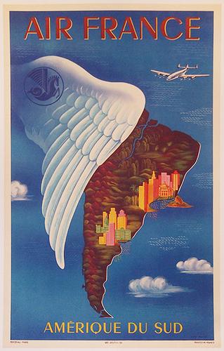 Air France Amerique de Sud Wing (1/4 Sheet)