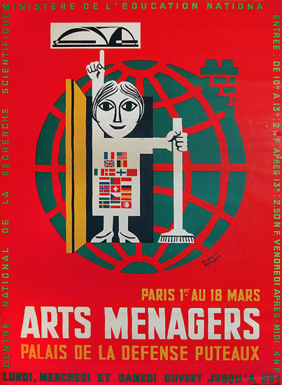 Arts Menagers (Red) 47x63