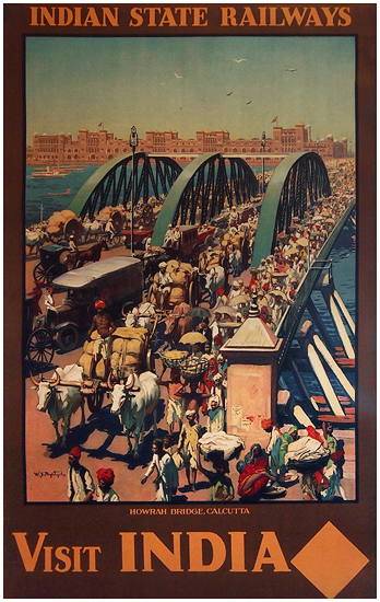 Visit India Howrah Bridge Calcutta  - Indian State Railways