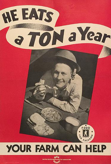 He Eats a Ton a Year