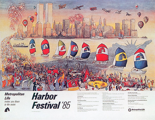 Harbor Festival 1985 (Sailboat Flags)