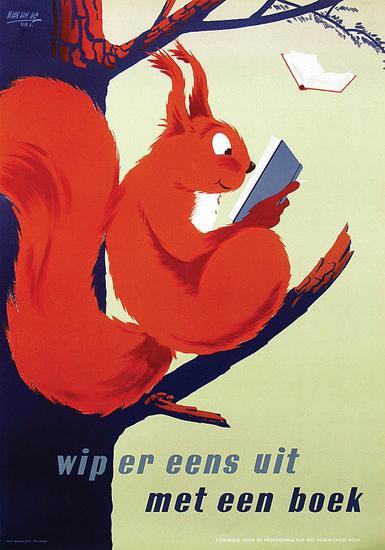 Met een Boek (Squirrel)