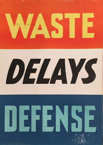 WASTE DELAYS DEFENSE (Think America)
