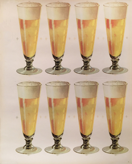 American Die Cut- Beer 8 Glasses