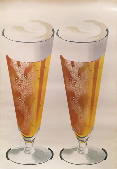 American Die Cut- Beer 2 Pilsner Glasses