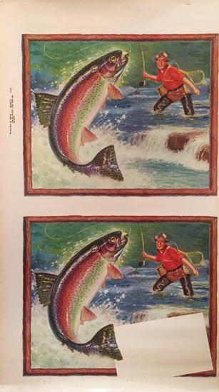 American Die Cut- Fisherman Menu (Double)