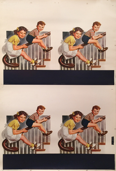 American Die Cut - Kids on Banister