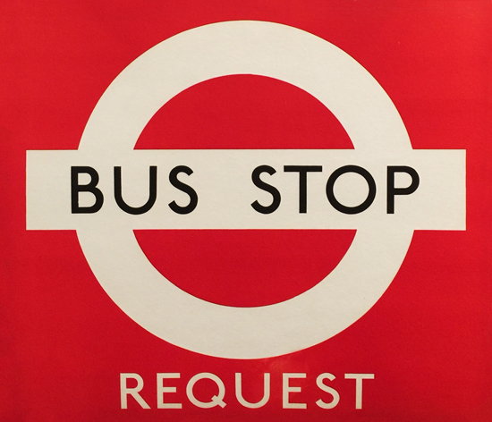 Bus Stop Request (Red Background)