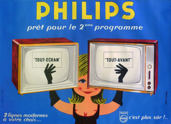 Philips TV Woman (Blue)