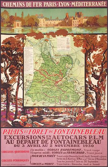 Chemin De Fer Paris Lyon Mediterranee Palais et Foret de Fontainebleau