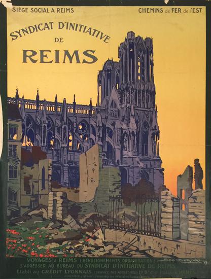 Chemins De Fer De l'Est Siege Social A Reims Syndicat D'Initiative De Reims