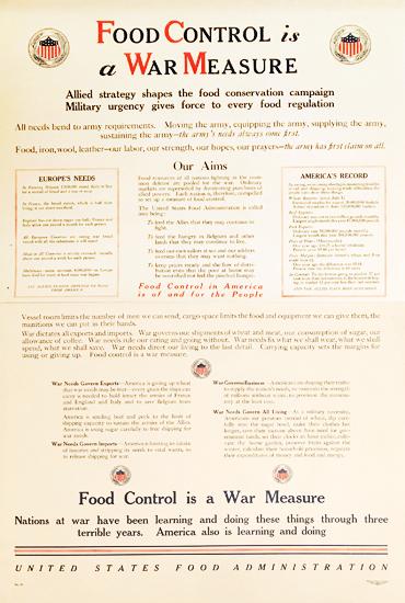 Food Control is a War Measure