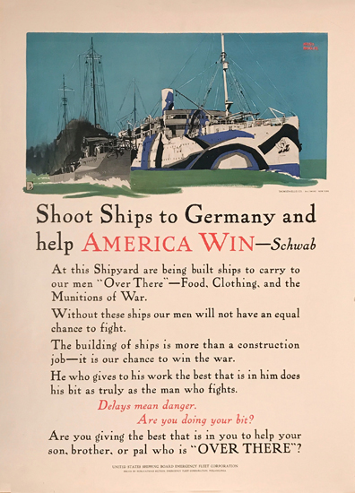 Shoot Ships to Germany and Help America Win (Dazzle Ship)