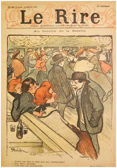 Le Rire Janvier 1896 Au Moulin De La Galette (Waltz)