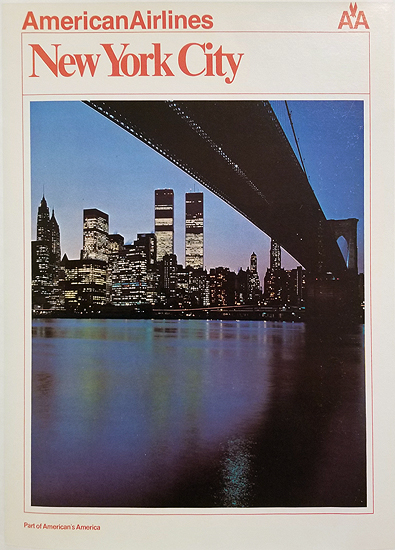 American Airlines New York City 1/4 Sheet
