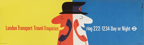 London Underground Panel London Transport Travel Enquiries Ring Day or Night