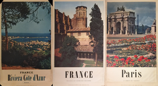 France Photographic Posters (Lot of 3)
