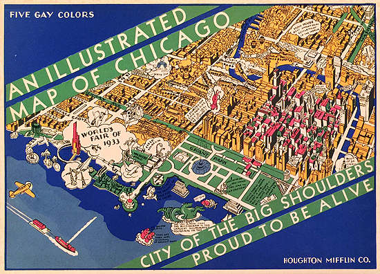 An Illustrated Map of Chicago (Envelope)