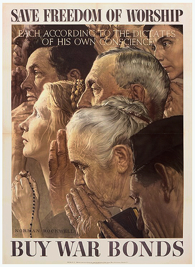 Four Freedoms: Freedom of Worship - small