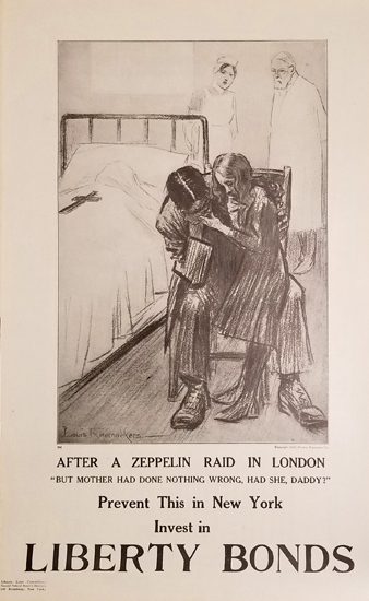 After a Zeppelin Raid - Liberty Bonds