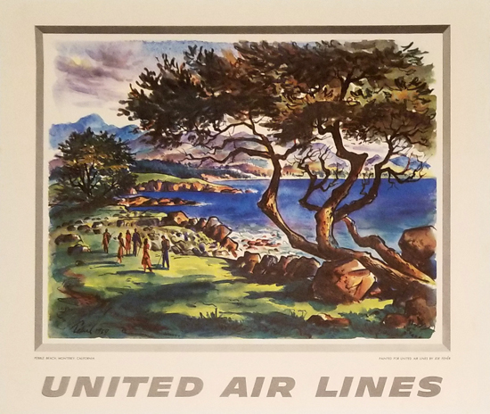 United Calendar Series - Pebble Beach Monterey California