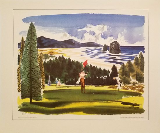 United Calendar Series - Neahkahnie Golf Course Oregon