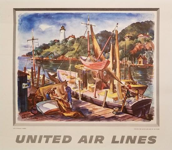 United Calendar Series - New England Harbor