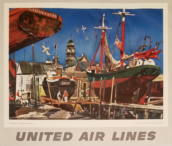 United Calendar Series - Fishing Boats Gloucester, MA