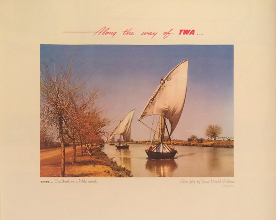 TWA - Egypt, The Nile River