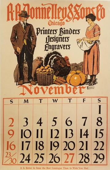 Penfield Calendar- November (1 from a set of 4)