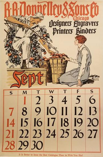Penfield Calendar- September (1 from a set of 4)