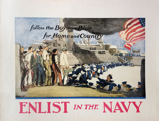 Enlist in the Navy- Follow the Boys in Blue for Home and Country