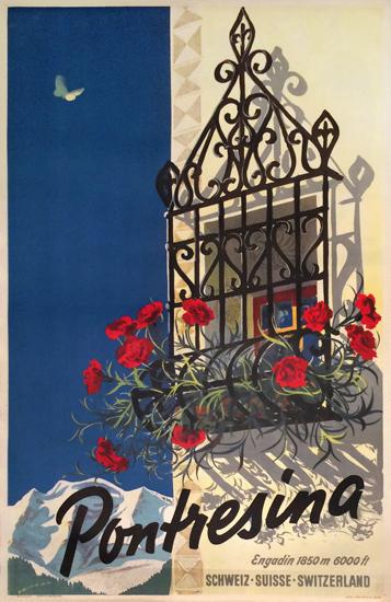 Pontresina (Window with Flowers)