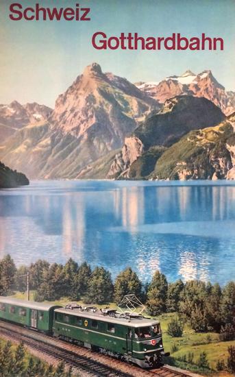Schweiz Gotthardbahn (Train & Mountain)