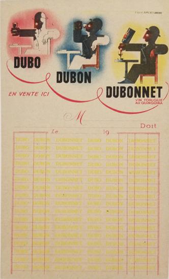 Dubonnet Receipt Page