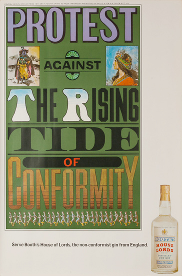 Protest the Rising Tide of Conformity Booth's House of Lords Gin