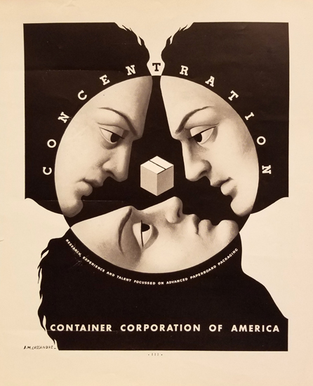 Container Corporation of America- Faces (Magazine Page)