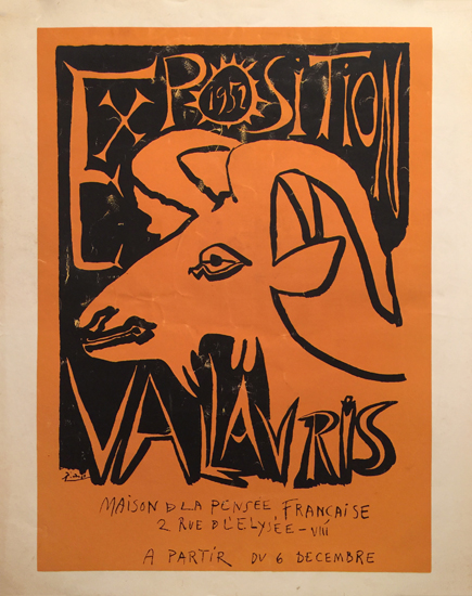 Exposition Valauris 1952 Picasso Maison d La Pensee