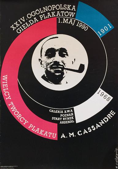 XXIV Ogolnopolska Gielda Plakatow 1990 (Cassandre Exhibition)