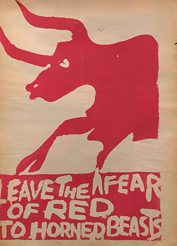 Leave The Fear of Red to Horned Beasts