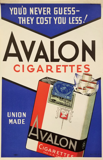 Avalon Cigarettes- Blue & Red