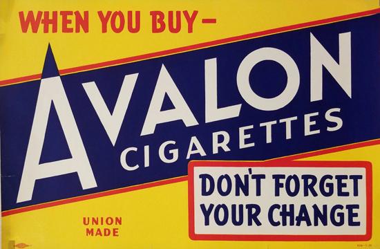 Avalon Cigarettes- Blue & Yellow
