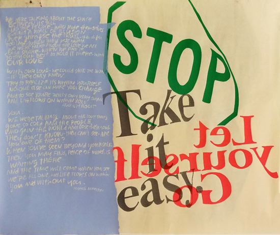 Corita Kent- Stop Take it Easy (Silkscreen)
