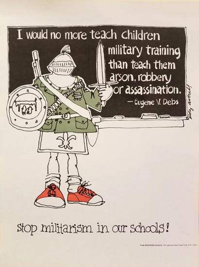 Peg Avery- Stop Militarism in our Schools!